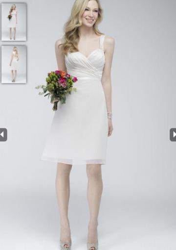 Hochzeit - Buy Australia Ivory A-line Straps Pleated Chiffon Skirt Mini Length 2015 Spring Bridesmaid Dresses 772 at AU$134.64 - Dress4Australia.com.au