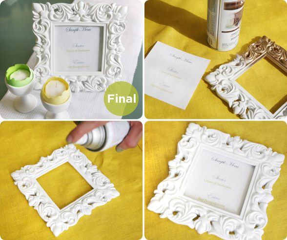 Mariage - Creating With Colin: DIY Framed Menus