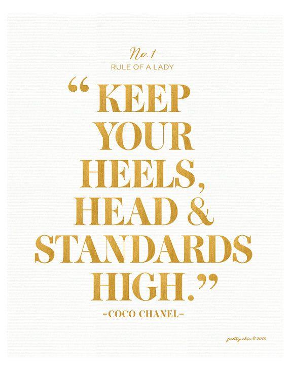 Keep Your Heels, Head \u0026 Standards High Print , Bar Cart