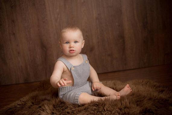 زفاف - Baby boy romper Overall Baby Diaper Cover Baby Sunsuit Baby clothes 1st birthday outfit Summer suit