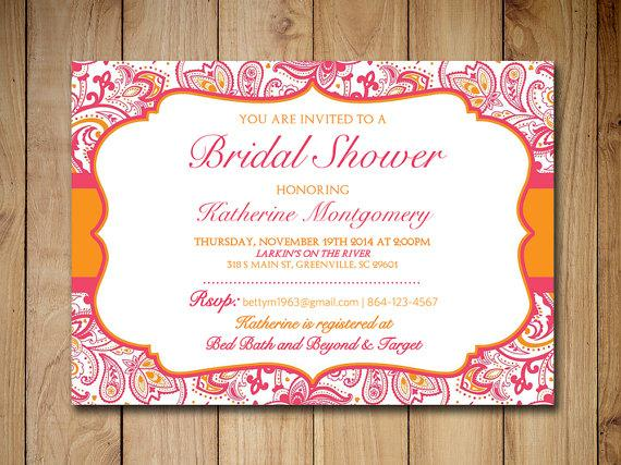 Bridal Shower Invitation Template Wedding Shower Lipstick Pink