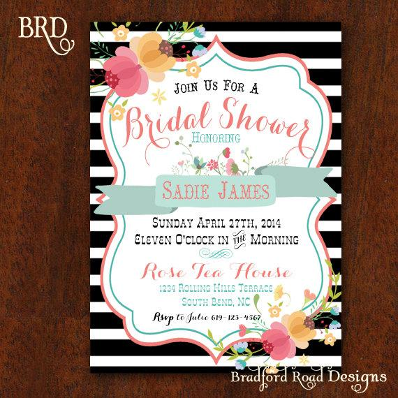 Mariage - Bridal Shower invitation Blushing Bride Lingerie Shower Bachelorette Party Invitation Lace Bridal Shower 5x7 Printable