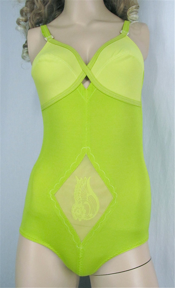 Mariage - All In One Girdle Bodysuit 36B Medium Shapewear Upcycled Clothing Hand Dyed Vintage Girdle Bra Panties Pin Up Lingerie Boho Hippie Bridal