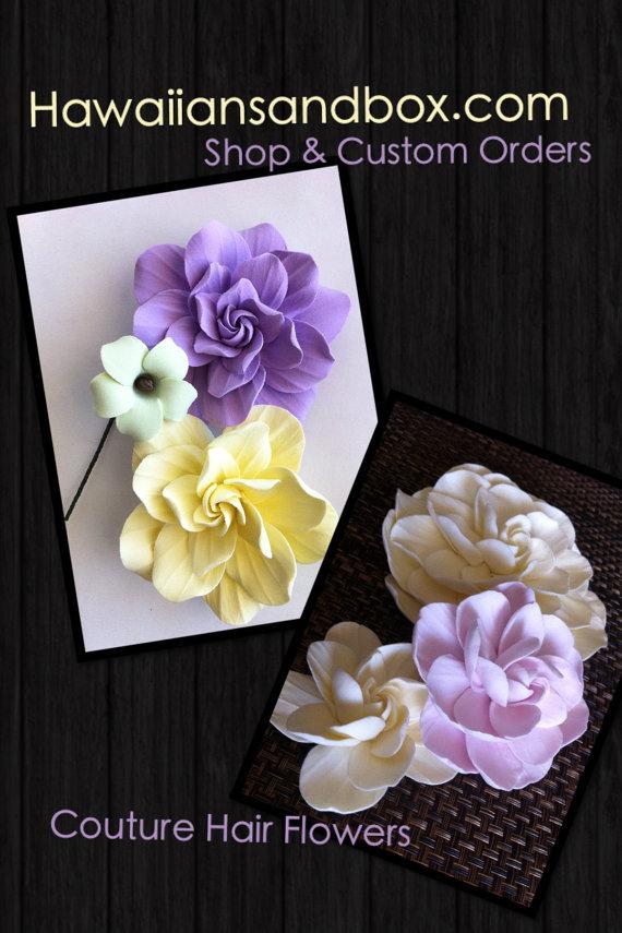 Hochzeit - Hawaiian Couture Flower Set for Carolyn