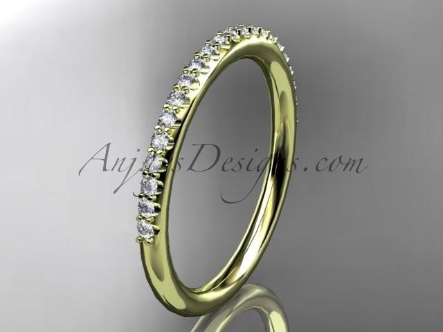 Свадьба - 14k yellow gold diamond unique wedding ring,engagement ring, wedding band, stacking ring ADER103