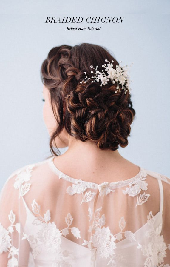 Wedding - Romantic Braided Chignon Hair Tutorial