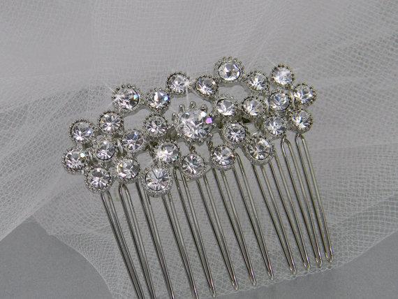 Hochzeit - Bridal Hair comb, Crystal hair comb, Swarovski crystal, Wedding, Hair accessories, Hair clip, Cassie Hair Comb