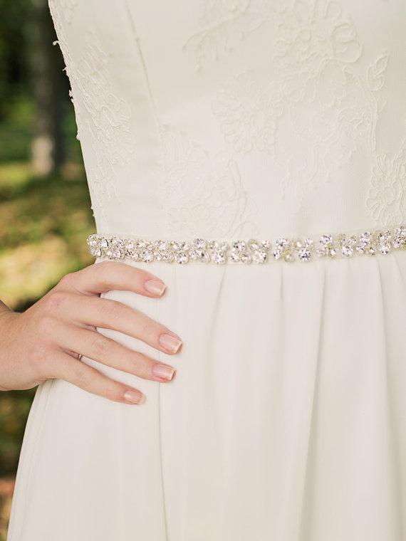 زفاف - Crystal Bridal Sash