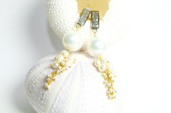 Diamond Wedding Gift Ideas: Weddings, Diamond And Pearl Earrings , Classic Bridal