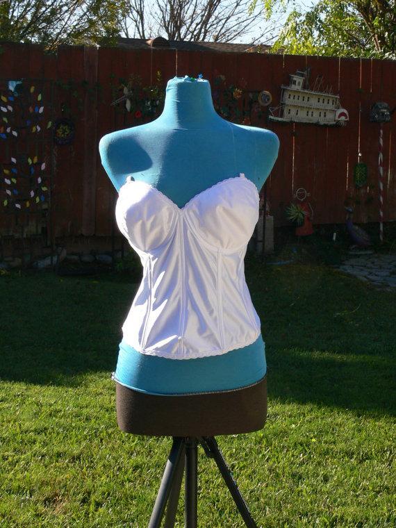 Свадьба - white boned corset size bust  42d