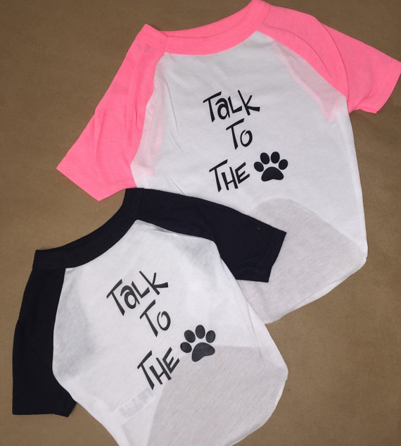 Свадьба - Raglan Dog Shirt_Talk to the Paw_perfect way to let your dog show their personality.