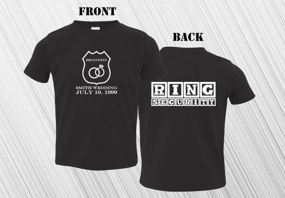Свадьба - Ring Security Ring Bearer T-Shirt - Shirt - Tee - Wedding - The Ring Bearer - Kids - Youth - Custom - Personalized - Custom Wedding T-Shirt