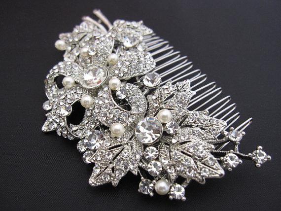 Свадьба - Wedding hair comb wedding hair accessories wedding hair clip bridal hair comb wedding hair piece wedding hairpiece jewelry bridal haircomb