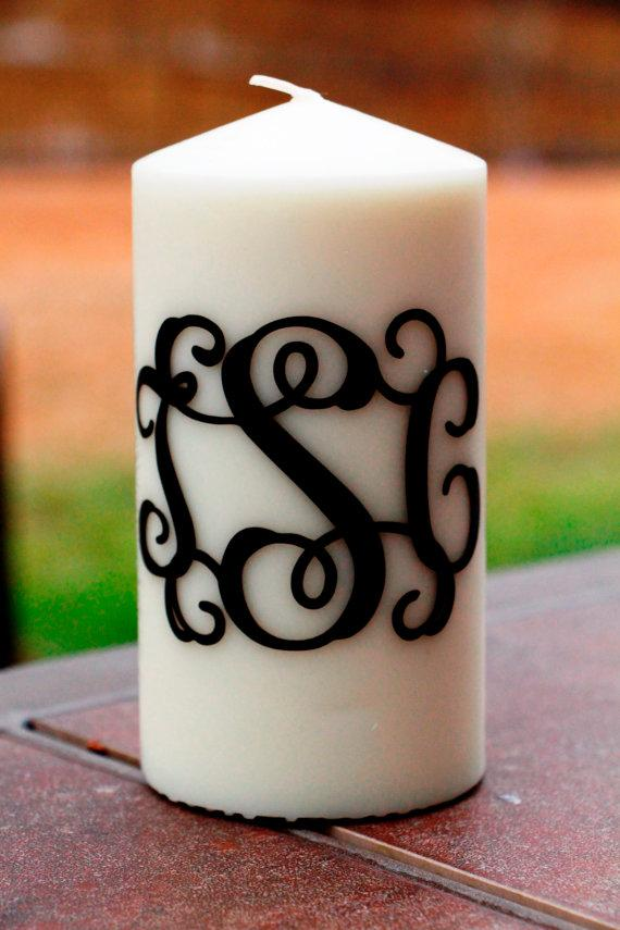 Mariage - Monogrammed Candle - Unity Candle - Personalized Candle