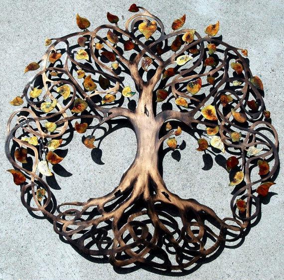 Свадьба - Autumn Blend Sparkle Leaf Love Lock Ceremony Tree of Life  (3 Hasps)