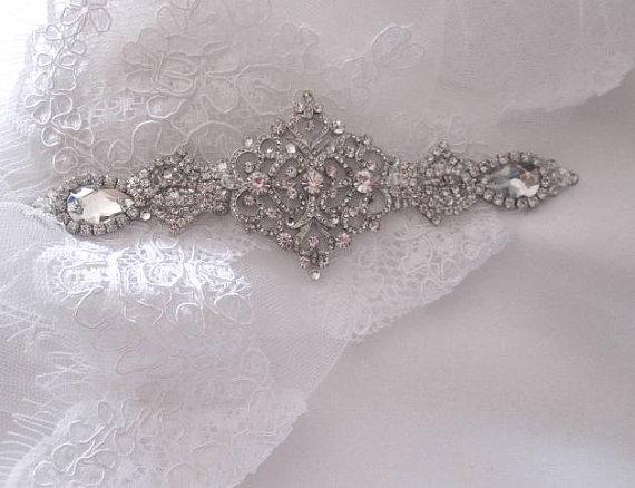 Wedding - Bridal Wedding Dress Gown Beaded Crystal Embellishment Sash