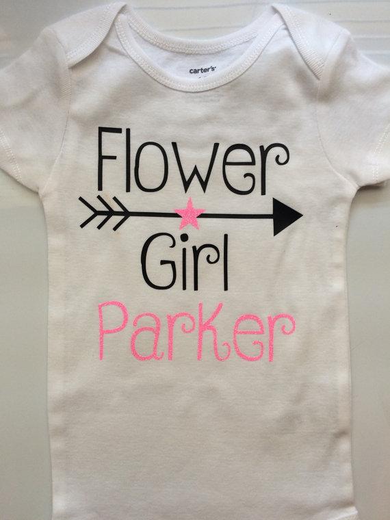 Wedding - Flower Girl Shirt - Flower Girl Gift - Wedding Party gift- Flower girl dress--- baby flower girl- Personalized shirt- shirt only