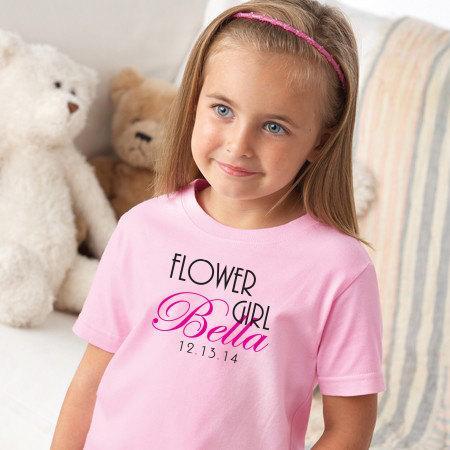 Свадьба - Flower girl, Flower Girl Shirt, wedding shirt, Ring bearer, wedding rehearsal, wedding day, DIY wedding, Maid of honor, bridal party