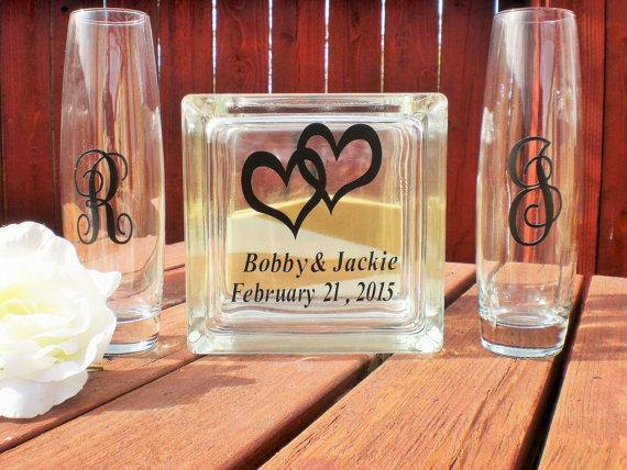Hochzeit - Sand Ceremony, Wedding Sand Ceremony, Sand Ceremony Personalized Block Set, Beach Ceremony, Unity Sand Ceremony