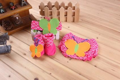 Hochzeit - Butterfly Diaper Cover Set in Pink Color