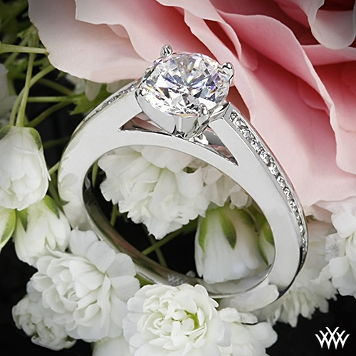 "Mariage - 18k White Gold ""Honey Channel-Set"" Diamond Engagement Ring"