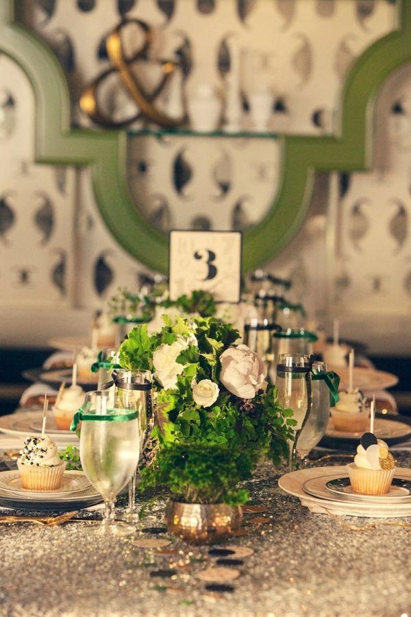 Свадьба - Green And Gold New Years Ideas From Couture Events