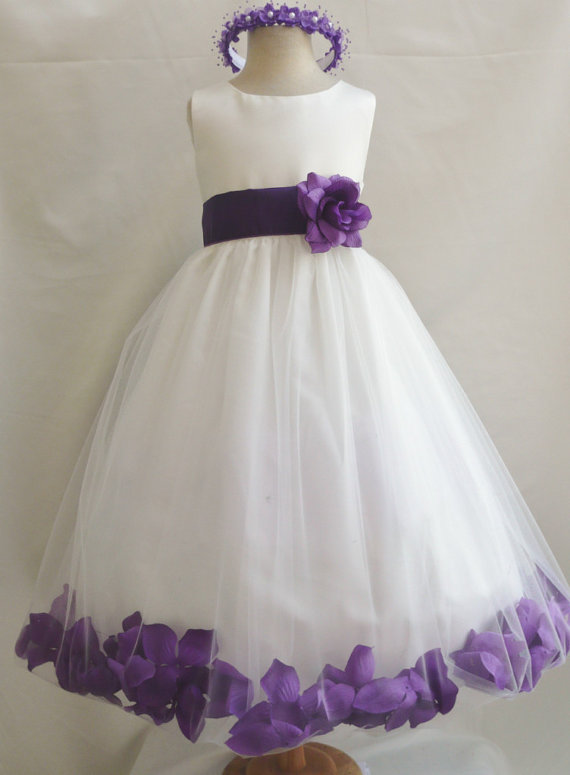 Flower girl dresses ivory with purple rose petal dress fd0pt flower girl dresses ivory with purple rose petal dress fd0pt wedding easter bridesmaid for baby children toddler teen girls mightylinksfo