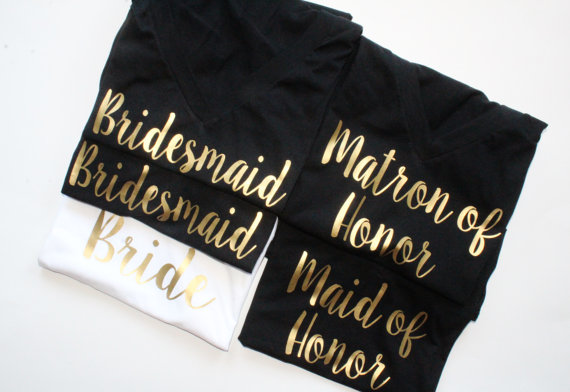 02de3bd0512 Bridal Party Shirt Set. Bridal Party shirts. Bridal Party Tanks. Bridesmaid  Shirt. Bride Shirt. Maid of Honor. Bridal party. Wedding.
