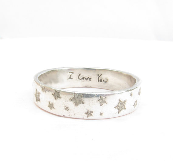 Mariage - Handwriting Jewelry  -  Patterned Wedding Ring-  Posey Ring  - Engraved Ring - Personalized Jewelry