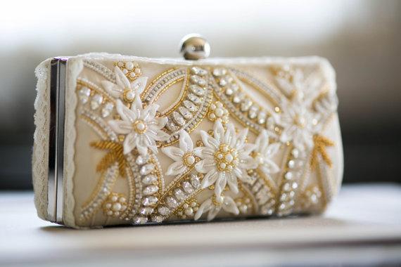 Свадьба - Wedding box clutch  - CT01 (1 qty ready to ship)