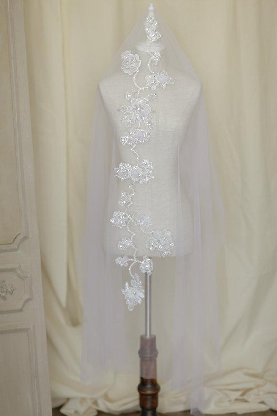 Mariage - bridal veil custom order