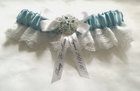 Mariage - Personalisation Add on Pack for Garters/Ring Pillows-customise your Garter or Ring Pillow