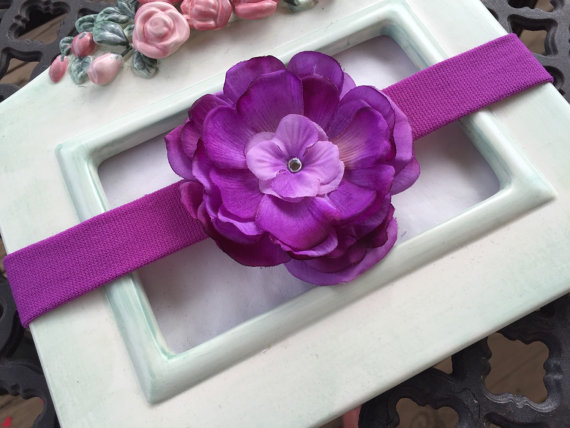 Wedding - Super Sale Purple Flower Stretch Headband