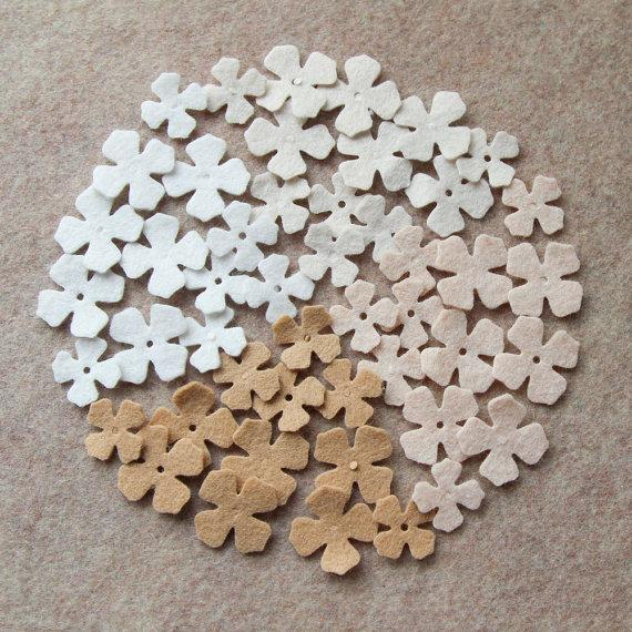 Wedding - Fresh Linens - Lilacs Value Pack - 144 Die Cut Wool Felt Flowers