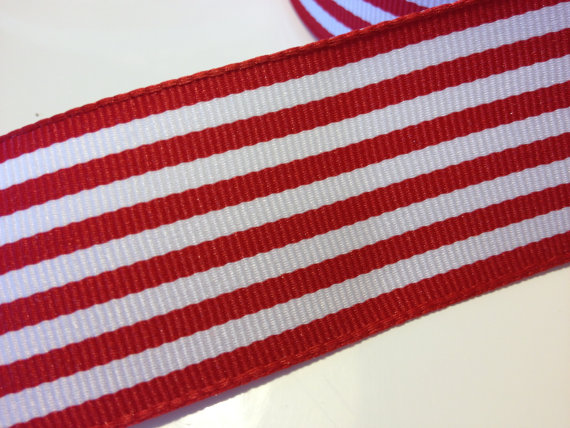 Mariage - Red Stripe Ribbon 1.5 inches x 4 yards