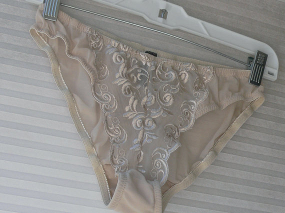 زفاف - nude sheer panties size large