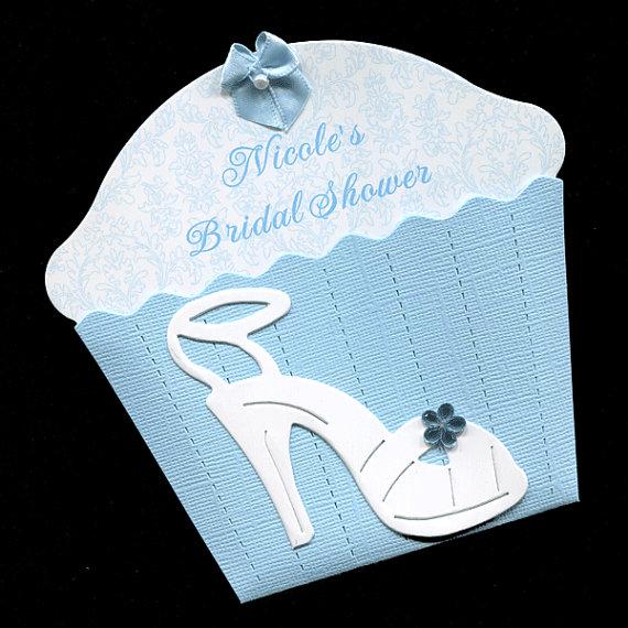 Bridal shower invitations wedding shower invitation cupcake bridal shower invitations wedding shower invitation cupcake invitations blue bridal invitations die cut shoe personalized 20 filmwisefo