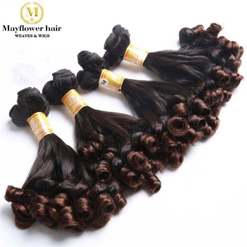 Aunty Funmi Hair Ombre Weaves Spring Curl Human Hair Weft 2337879