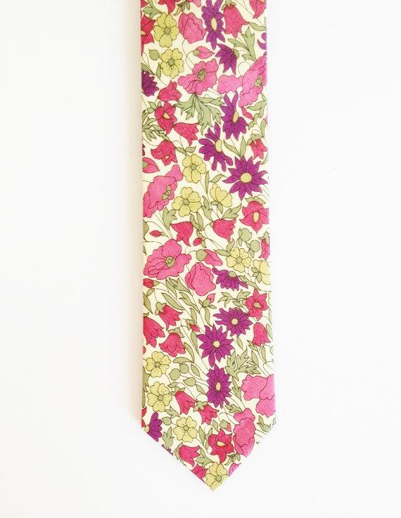 Wedding - Liberty of London Print Necktie, Purple Men's Tie, custom purple tie, YOU CHOOSE COLOR, purple groomsmen tie, lavender liberty
