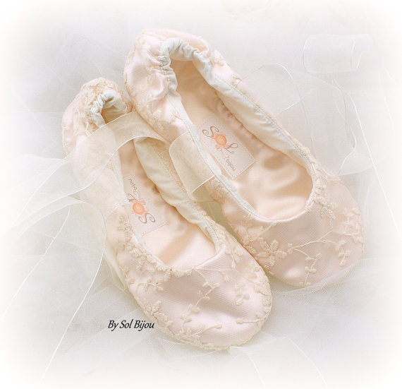 Lace Ballet Flats, Wedding, Bridal, Shoes, Flower Girl Flats, Maid ...