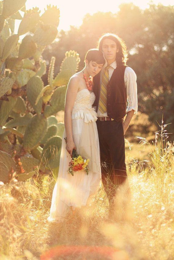 Wedding - The Cactus Flower Wedding Dress --made To Order--