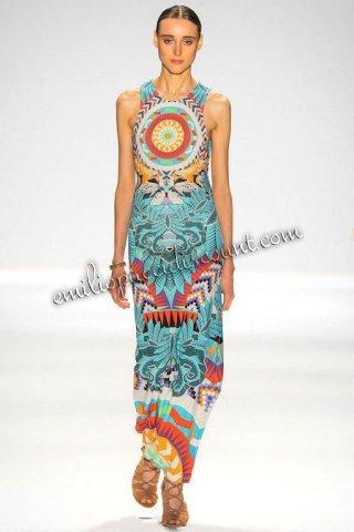 Wedding - Cheap EMILIO PUCCI Multicolor Printed Column Maxi Dress