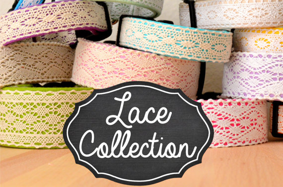 زفاف - The Lace Collection by Puddle Jumper Pups - rustic inspired lace dog collars, leashes, and harnesses