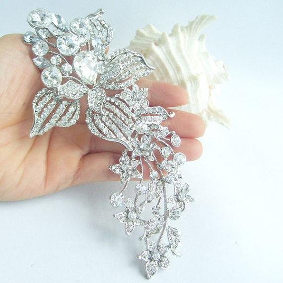 Mariage - Wedding Accessories Rhinestone Crystal Bridal Brooch Bridal Bouquet Wedding Deco Crystal Sash Pin Wedding Brooch Wedding Jewelry BP04706C1