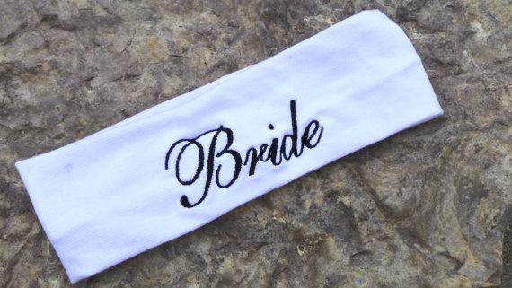 Mariage - Bride Spa Headband, Sports Headband, Workout  Sweatband