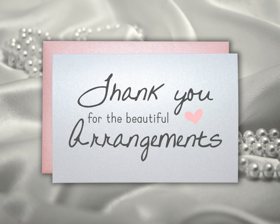 Mariage - Thank you for the beautiful arrangements wedding thank you cards for your florist note cards from bride and groom for caterer dj band cards