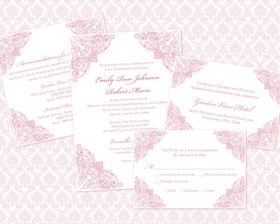 diy wedding invitation template set 5x7 invitation enclosure cards 2338469 weddbook. Black Bedroom Furniture Sets. Home Design Ideas