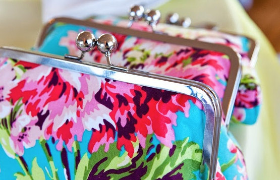 Mariage - Floral Wedding Party Gift Clutch Handbag Custom Made for Bridesmaids Gift - Design your own