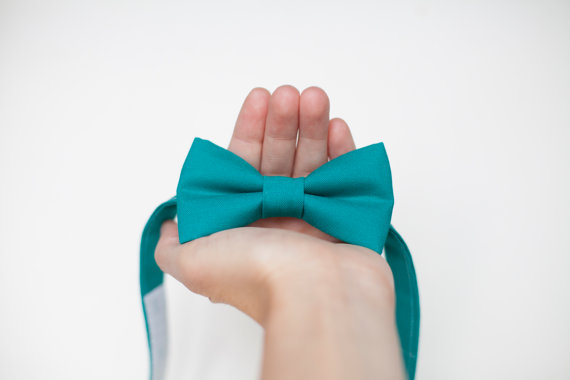 Mariage - Teal Bow tie,  baby Bow Tie, toddler bow ties, mens tie, wedding bow tie, solid bow tie