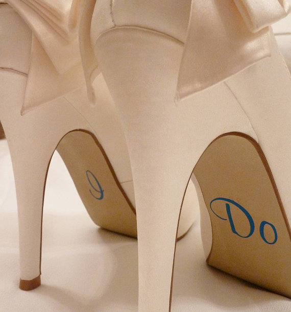 Mariage - I Do Shoe Stickers for Bride - Wedding Decal - Wedding Favour - Bride Gift - Bridal Shoes - Wedding Pictures - Wedding Party - Photo Prop